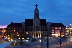 Alte katholische Kirche Stockfotografie