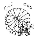 Alte Katze Stockfotografie