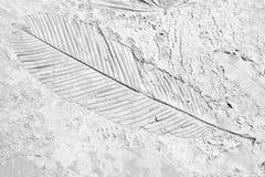 Alte Kennzeichen des Blattes auf dem grauen konkreten Hintergrund Lizenzfreies Stockbild