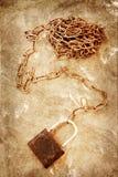 Alte Kette auf Schmutzhintergrund Lizenzfreies Stockbild