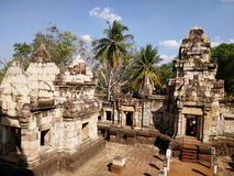 Alte Khmerkunst Stockfoto