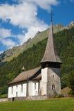 Alte Kirche, Cantorama在Jaun 库存照片