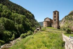 Alte Kirche in Andorra Stockbild