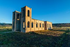 Alte Kirche in Antonito Colorado Lizenzfreies Stockbild