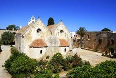 Alte Kirche am Arkadi Dorf auf Kreta-Insel, Gree Stockbilder