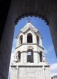 Alte Kirche Armeniens Kazanchetsots in Stepanakert Lizenzfreie Stockbilder