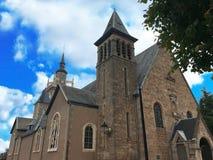 Alte Kirche in Aron, Belgien, Europa Lizenzfreies Stockbild