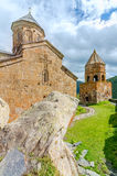 Alte Kirche auf Berg Kazbek in Georgia Stockbild