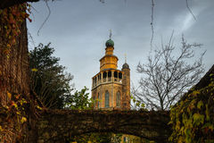 Alte Kirche in Brügge, Belgien Lizenzfreie Stockbilder