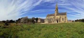 Alte Kirche in Brittaney Lizenzfreies Stockbild