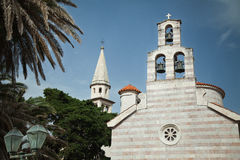 Alte Kirche in Budva, Montenegro Stockfotografie