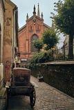 Alte Kirche in der alten Stadt Riga Lettland Stockfoto