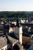Alte Kirche in der historischen Mitte von Lemberg, Ukraine Stockfotos