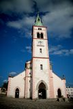 Alte Kirche in der Stadt Kasperske Hory, Tschechische Republik Lizenzfreie Stockfotografie