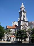 Alte Kirche in der Straße von Sao-Paulo Lizenzfreies Stockbild