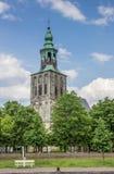Alte Kirche am Marktplatz in Nordhorn Lizenzfreie Stockfotos