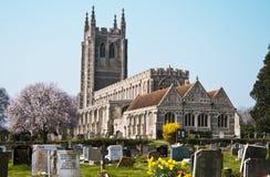 Alte Kirche mit Friedhof England Stockfoto
