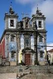Alte Kirche in Porto Stockfotografie