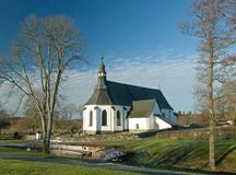 Alte Kirche in Schweden Lizenzfreies Stockbild