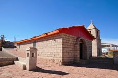 Alte Kirche in Socaire lizenzfreies stockfoto