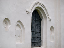 Alte Kirche-Tür Stockbilder