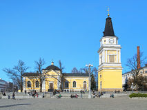 Alte Kirche in Tampere, Finnland Stockfoto
