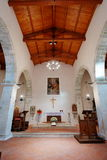 Alte Kirche von Faifoli nach innen Lizenzfreie Stockbilder