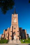 Alte Kirche von rotem bric Lizenzfreie Stockfotografie