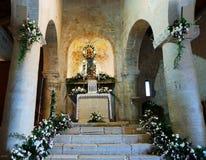Alte Kirche von Santa Maria della Strada nach innen Stockfotos