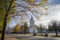 Alte Kirche in Wyborg, Russland lizenzfreies stockbild