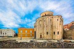 Alte Kirche in Zadar, Kroatien stockfotografie