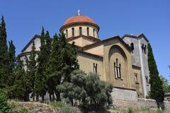 Alte Kirche in zentralem Athen Stockfoto