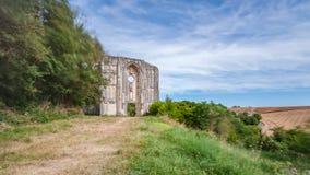 Alte Kirchen- und Abteiruinen im Loire Valley, Frankreich, Stockfotos