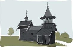 Alte Kirchengebäudeaquarellskizze Lizenzfreie Stockbilder