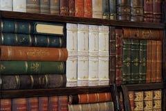 Alte klassische Bücher auf Bücherregal Lizenzfreie Stockbilder