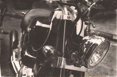 Alte klassische Motorräder der Weinlese Stockfotos