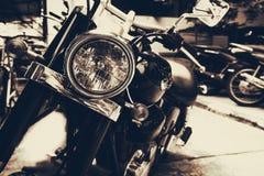 Alte klassische Motorräder der Weinlese Lizenzfreie Stockbilder