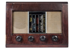 Alte klassische Radioweinlese lokalisiert lizenzfreie stockbilder