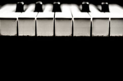 Alte Klaviertasten stockfotografie