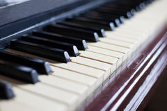 Alte Klaviertasten Stockbild