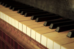 Alte Klaviertasten Lizenzfreie Stockbilder