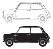 Alte kleine Auto-Entwürfe Stockfoto