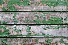 Alte kleine hölzerne Bretter mit der Schale der grünen Farbe Lizenzfreie Stockfotos