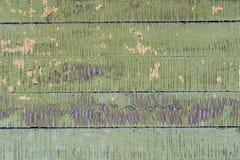 Alte kleine hölzerne Bretter mit der Schale der grünen Farbe Stockbild