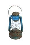 Alte kleine Lampe auf Weiß Stockfotos