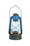 Alte kleine Lampe lokalisiert auf Weiß Lizenzfreie Stockfotografie