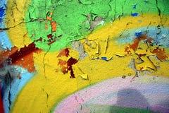 Alte knackende Malerarbeit-Beschaffenheit 02 Stockfoto