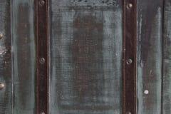 Alte Koffer Blauer Retro- Koffer lizenzfreies stockfoto
