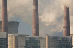 Alte Kohleenergieanlage in Neurath - Detail stockfotos