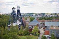 Alte Kohlengrube nahe Charleroi, Belgien Lizenzfreies Stockfoto